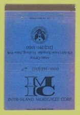 Matchbook Cover - Inter Island Mortgage Corp Flushing NY 40 Strike