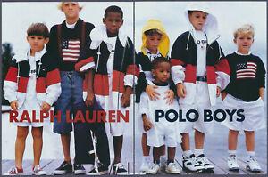 Ralph Lauren Polo Boys Fashion Vintage Magazine Print Ad 1995