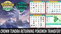 The Crown Tundra DLC Pokemon Pack All Pokemon Non Shiny!!