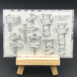 Signpost Transparent Silicone Stamps For DIY Scrapbooking Decorative Sheets