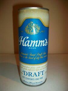 HAMM'S DRAFT  - THEO. HAMM CO. - CRIMPED STEEL - TOP OPEN - PULL TAB - 16oz.