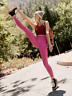 NEW Free People Movement High-Rise 7/8 Length Shanti Legging Pink XS/S-M/L 97.12
