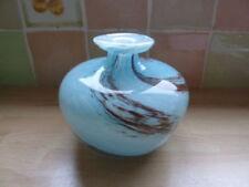 Possibly Isle Of Wight Studio Art Glass Vase Pink Swirls