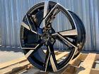 4 Black Machined Wheels 18x8 5x112 Cb66.6 Fit Audi A3 A4 A5 S4 S5 Jetta Passat