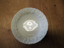 """Wedgwood England Queen's Ware Embossed All Cream Set of 2 Bowls 6"""""""