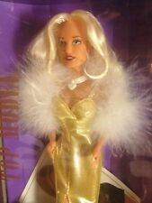 Top Fashion Runway Model 1995 Karen Mulder Doll Hasbro Sindy Glamour Gold Boa