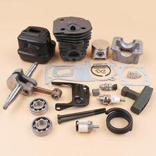 BIG BORE 44MM Cylinder Piston Crankshaft Muffler KIT For Husqvarna 340 345 NEW