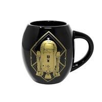 Star Wars Deluxe XXL Tasse Droiden R2D2 BB-8 schwarz gold - Premium Luxus Becher