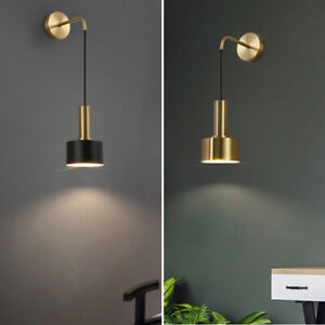Bedroom Wall Lamp Home Gold Wall Sconce Indoor Black Lighting Modern Wall Light