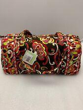 Vera Bradley Puccini Brown Red Gold Small Duffel TRAVEL Carryon Bag NWT Rare!