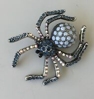 Unique Crystal  spider brooch  pin