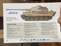 PANZER ACE Otto Carius Signed TANK photo -150+ Tank Kills