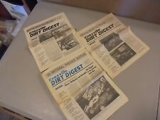 lot of 3 1989/90 KNOXVILLE DIRT DIGEST NEWSPAPERS,SPRINT CAR RACING RESULTS,