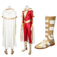 Shazam Captain Marvel William Billy Batson Cosplay Costume Full Set Customize