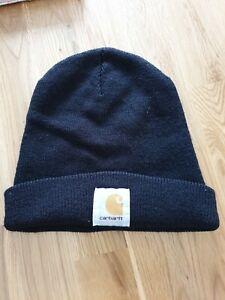 CARHARTT Black Beanie Hat One Size