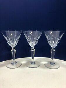 Vintage Baccarat Crystal Austerlitz Cut Claret Wine Glasses - Selling Per Glass
