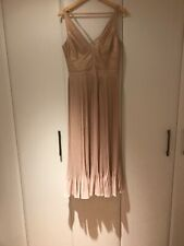 Karen Millen Rose Gold Shimmer Dress Size 10 Bnwot