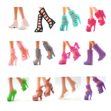 NK 12 pairs Doll Shoes Fashion Cute Colorful Assorted shoes for Barbie Doll New