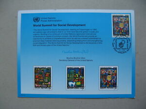 UNITED NATIONS VIENNA, 1st-day card FDC 1995, Art Hundertwasser