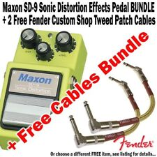 MAXON SD-9 Sonic Distortion Effect Pedal + 2 FREE FENDER PATCH CABLES BUNDLE NEW