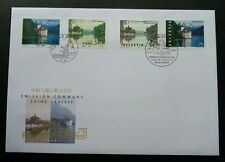 Switzerland China Joint Issue 1998 Temple Lake 瑞士中国 (joint FDC *rare dual cancel
