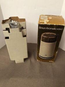 Vintage Braun Aromatic KSM2 Coffee Grinder NOS