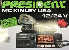 President MCKINLEY USA CB Radio Deluxe AM/SSB 12/24V CB Radio Brand NEW