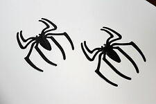 2 x Black Spider Badge Decal Sticker for Hyundai Sante Fe Getz Accent Amica Atoz