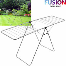 FOLDING AIRER INDOOR OUTDOOR CLOTHES DRYING RACK LAUNDRY DRYER FOLD WASHING LINE
