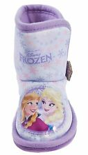 Girls Disney Frozen Elsa Anna Olaf Slipper Boots Bootie Fur Blue/Pink size 6-13