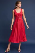 NWT Red Tracy Reese Corset Midi Dress Size 2 Petite