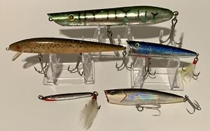 Lot of 5 Fishing Lures - Various Styles And Sizes - Pencil Popper & More!