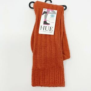 HUE Temp Tech Tuck Stitch Ribbed Socks, Women's One Size Orange Style U20915