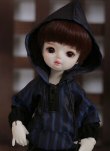 New Black coat short pants clothes Hair shoes For 1/6 BJD Doll Rina