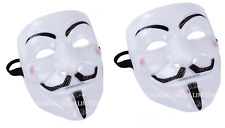 2X Vendetta V Face Mask Halloween Bonfire Night Guy Fawkes Anonymous Fancy Dress
