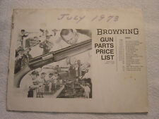 Browning parts price list 1973 catalog