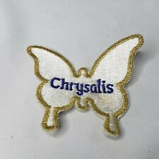 """Vtg 80s Chrysalis Records Butterfly Patch Promo Blondie Embroidered 4x4"""""""