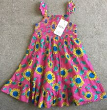BNWT Marks And Spencer Kids Pink Mix Smocked Summer Dress Size 4-5 Years