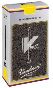 Box of 10 Vandoren V.12 (V12) Bb Clarinet Reeds - 3.5+ Strength (CR1935+)