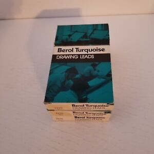 Berol Turquoise Drawing Leads 2375 3H Lot of 3 Half Gross, 216 Leads, NOS