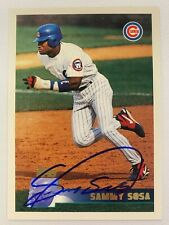 1996 Topps #252 Sammy Sosa Chicago Cubs - Autographed