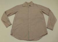 Banana Republic Mens Size Medium Slim Fit Pink Striped Shirt Great Condition