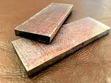 "4-1/4"" Pair of Raw Micarta Scale Jewelry-Razor-Knife Handle Making Supplies"
