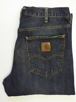 CARHARTT MARLOW PANT JEANS MEN'S RELAXED STRAIGHT W32 L34 DARK BLUE LEVQ640