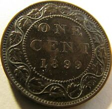 1899 AU- Canada One Cent - KM# 7 - Free Shipping