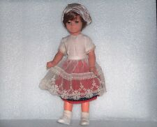 Vintage 35 cm Plastic And Rubber Doll In Traditional Costume,Germany-Gdr/Ddr