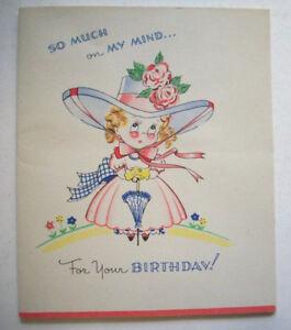 Unused  Birthday booklet greeting card *1O White & Wyckoff