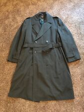 Authentic US Army AG-44 Wool Gabradine Over Coat w Liner & Belt Size 40R