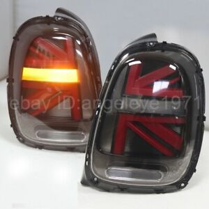 LED taillights For MINI Cooper F56 LED Strip tail lamps 2014-2016 Year Red Black