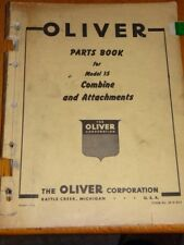 Oliver Parts Book Model 15 Combine and Attachments